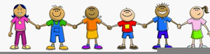 Kids Leave Clipart Image