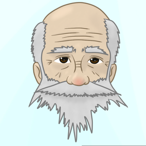 Wrinkled Face Cartoon Image