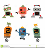 Robot Cartoon Or Clipart Image