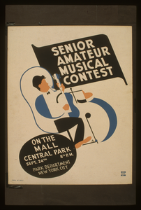 Senior Amateur Musical Contest On The Mall, Central Park / Ad(?) [monogram] Image