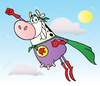 Flying Cape Clipart Image