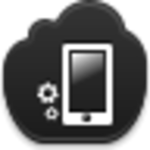Free Black Cloud Phone Settings Image