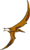Brown Flying Pterodactyl Clip Art