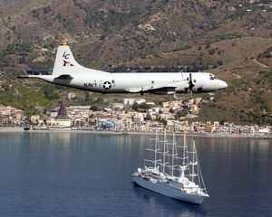 A P-3c Orion Aircraft Assigned To The  Tigers  Of Patrol Squadron Eight (vp-8) Flies Image