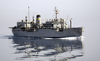 The Military Sealift Command (msc) Combat Stores Ship Usns Sirius (t-afs 8) Cruises Along Side Uss George Washington (cvn 73) During A Vertical Replenishment Evolution. Image