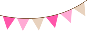 Angled Pink Brown Bunting Md Image