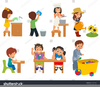 Child Doing Chores Clipart Image