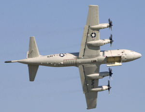 A P-3 Orion Fly With Bomb-bay Doors Open, During The Annual U.s. Air And Trade Show At Dayton International Airport. Image