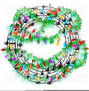 free christmas music clipart image - Christmas Music Free