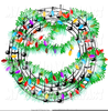Free Christmas Music Clipart Image