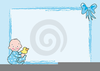 Baby Boy Baptism Clipart Image