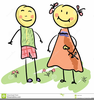 Free Cartoon Couples Clipart Image