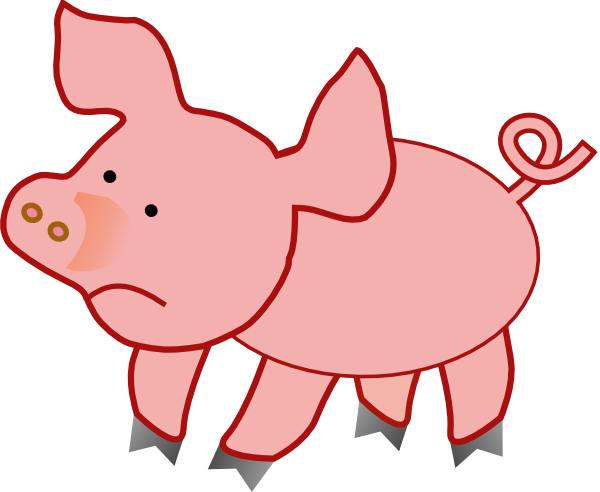 small pig unhappy clip art at clker com vector clip art online rh clker com free clipart of pigs free clipart pictures of pigs