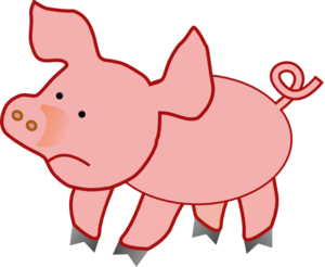 Small Pig Unhappy Clip Art