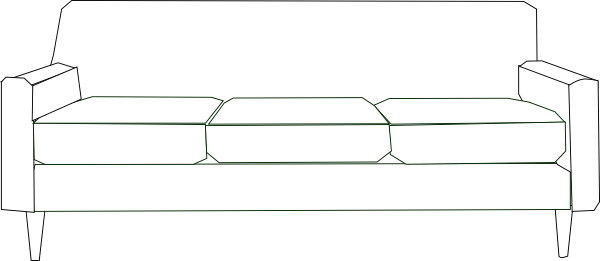 White Couch Clip Art At Clker Com Vector Clip Art Online