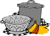 Cooking Pans Glove Clip Art