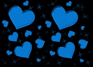 Disco Love Heart Blue Image