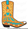Pink Cowboy Boots Clipart Image