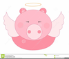 Pig With Wings Clipart Image
