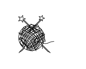 Knitting Needles In A Ball Of Yarn My Clipart Image