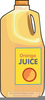 Orange Juice Clipart Free Image