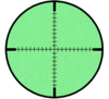 Night-vision Crosshairs Image