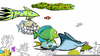Animated Sea Creatures Clipart Image
