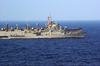 The Guided Missile Frigate Uss Ingraham (ffg 61) Sails Alongside The Fast Combat Support Ship Uss Sacramento (aoe 1) During An Underway Replenishment (unrep) Image