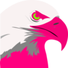 Florescent Pink Eagle2 Clip Art