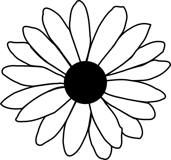 Daisy Flower Line Drawing : Daisy modification clip art at clker vector