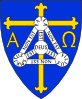 Coat Of Arms Of Anglican Diocese Of Trinidad - Includes Christian Symbols Of Cross, Alpha And Omega, And Shield Of Trinity Clip Art
