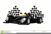 Black And White Race Car Clipart Image