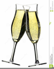 Champagne Toasting Flutes Clipart Image