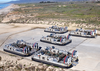 Landing Craft Air Cushion (lcac) Vehicles From Assault Craft Unit Five (acu-5) Stand By To Transport Their Cargo Of Light Armored Vehicles (lav Image
