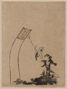 A Boy Flying A Kite. Image