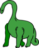 Green Long Necked Dinosaur Clip Art
