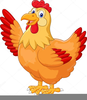 Red Hen Clipart Image