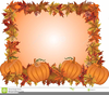 Free Clipart Fall Leaves Pumpkins Image