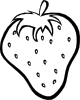 Outline Strawberry Clip Art