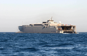 Joint Venture, High Speed Vessel Experimental One (hsv X1) Transports Various Different Warfare Groups Image