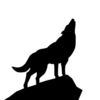Howling Wolf Silhouette Psd Image