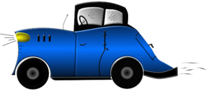 Blue Old Fashioned Car Clip Art