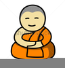 Buddhist Monk Clipart Image