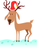 A Cartoon Reindeer Clip Art