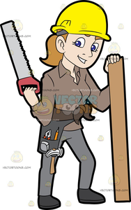 Hard Hat Worker Clipart Image