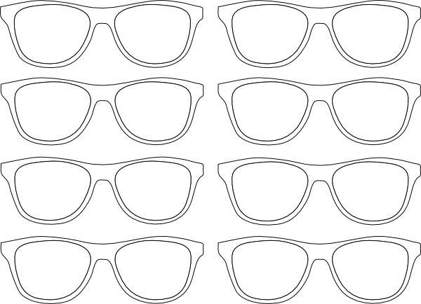 Glasses Frame Outline : Sunglasses Outline Clip Art at Clker.com - vector clip art ...
