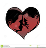 Lovers Kissing Clipart Image