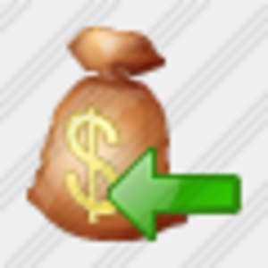 Icon Money Bag Import Image