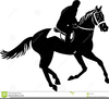 Man Riding A Horse Clipart Image