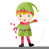Cute Christmas Elf Clipart Image